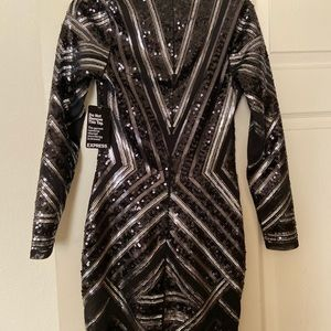 Express Dresses - Express sequin mini party dress black NWT XS